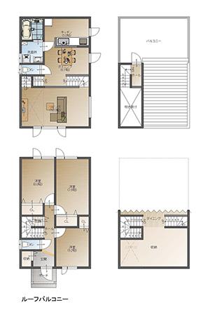 Type007 ルーフバルコニー付き住宅